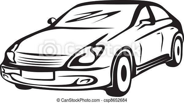 contour of the automobile - csp8652684