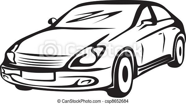 contour of the automobile - csp8652684
