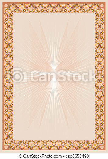 Brown_certificate_background - csp8653490