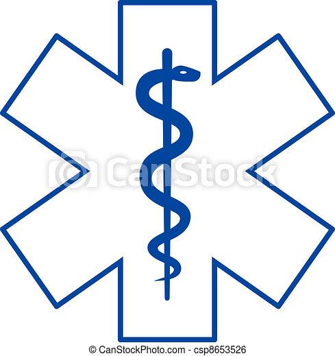 Asclepius medicine symbol - csp8653526