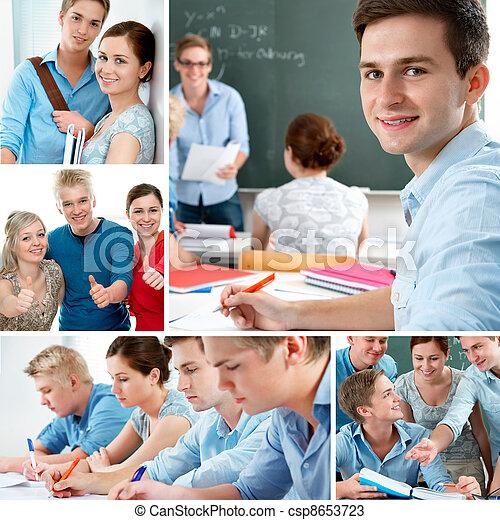 Education collage - csp8653723