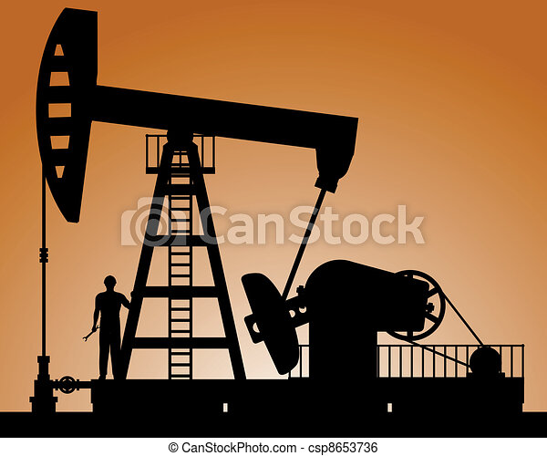 Silhouette of oil pump - csp8653736