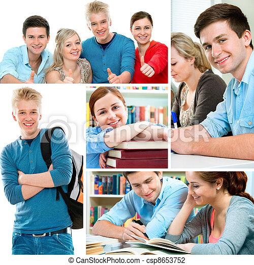 colagem, educação - csp8653752