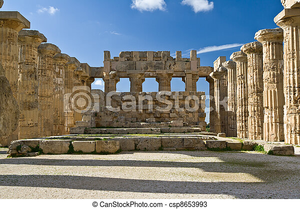 Ruins of Temple E, Selinunte. - csp8653993