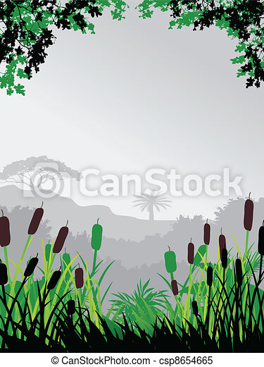 nature forest background - csp8654665