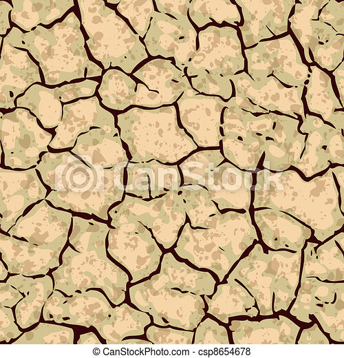 seamless cracked ground background pattern - csp8654678