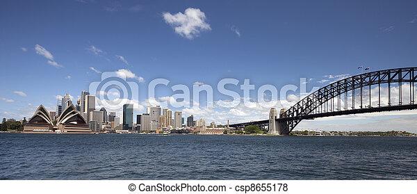 Sydney Harbour Bridge and downtown - csp8655178
