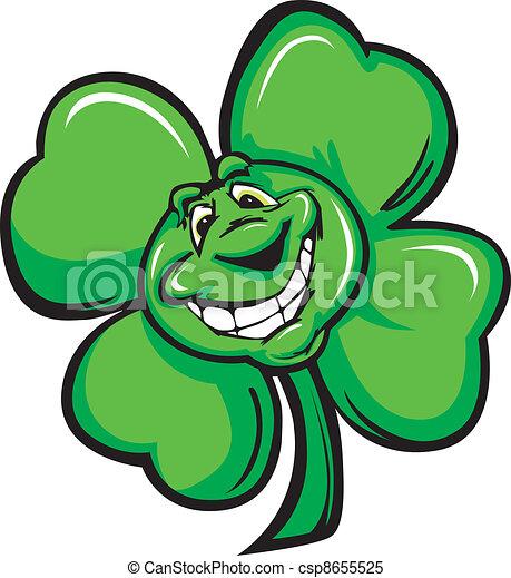 Happy Four Leaf Clover Shamrock Car - csp8655525