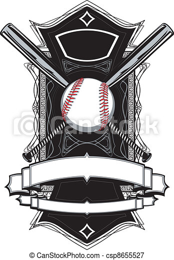 Baseball Bats, Baseball, on Ornate  - csp8655527