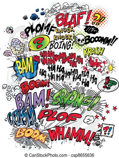 comic book words - csp8655636