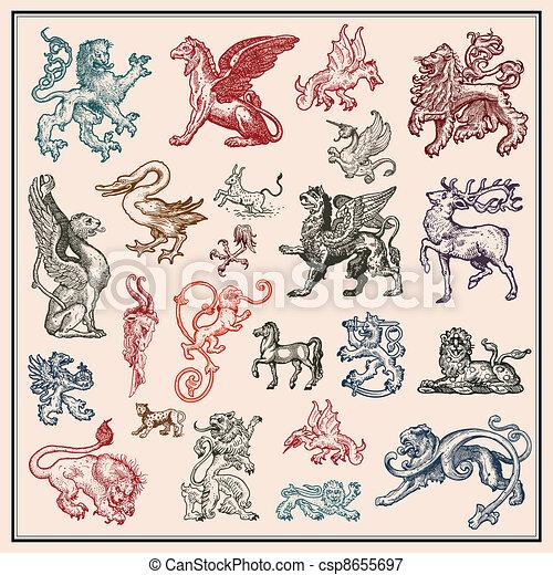 heraldic beast collection - csp8655697