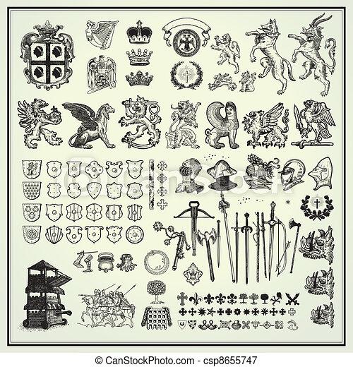 heraldic design elements - csp8655747