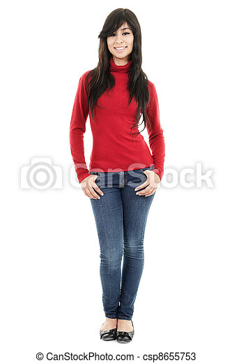 Casual woman - csp8655753