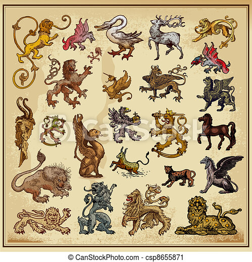 heraldic beast collection - csp8655871