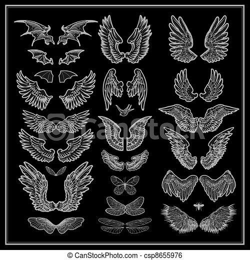 vector set of wings - csp8655976