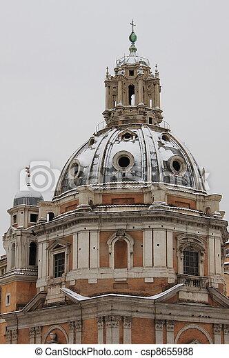 Rome urban scenics in wintertime - csp8655988