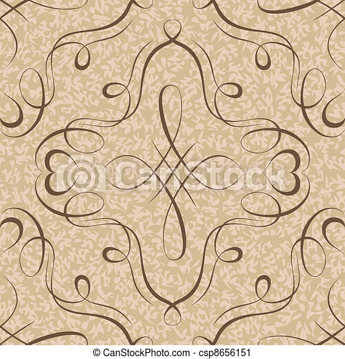 calligraphy penmanship decorative seamless background - csp8656151