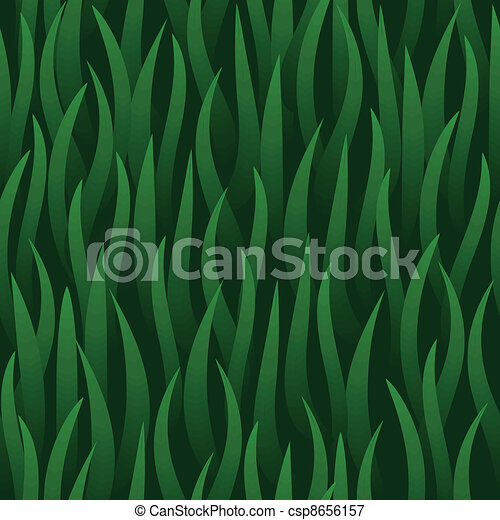 green grass field seamless background - csp8656157