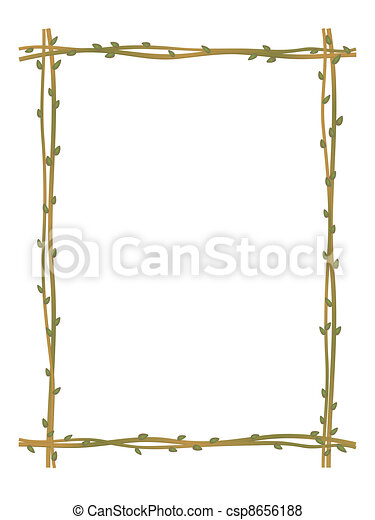 twig sprig frame pattern background - csp8656188