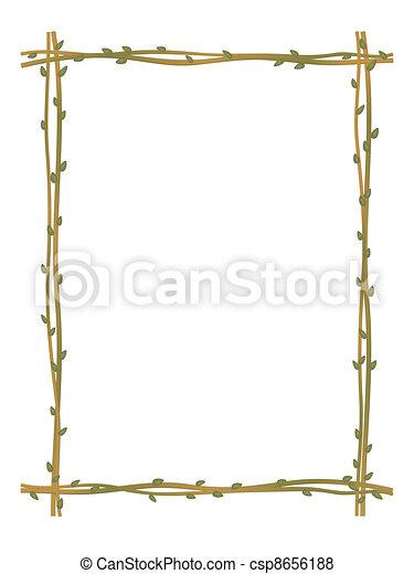 twig sprig frame pattern background - csp8656188