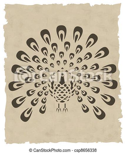 vector asian bird - csp8656338