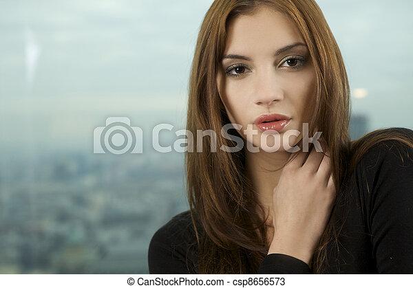 beautiful adult sensuality woman  - csp8656573