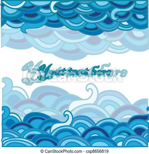 eps vectores de mar  caricatura  plano de fondo ocean wave clip art black white ocean waves clip art black