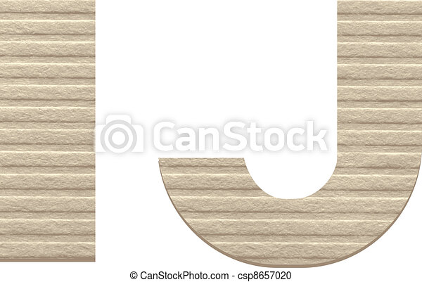 Letters from embossed cardboard.  - csp8657020