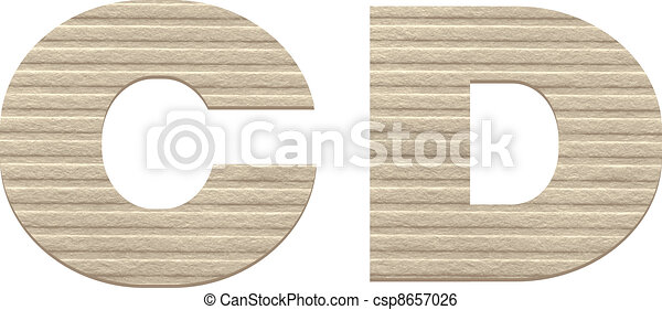 Letters from embossed cardboard. - csp8657026