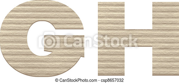 Letters from embossed cardboard. - csp8657032