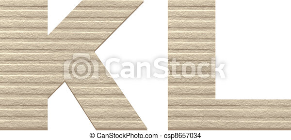 Letters from embossed cardboard. - csp8657034