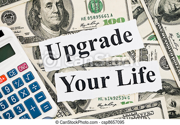 Upgrade your life, words and calculator - csp8657095