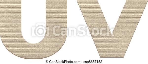 Letters from embossed cardboard.  - csp8657153