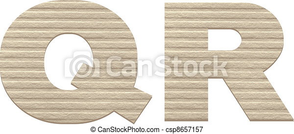 Letters from embossed cardboard.  - csp8657157