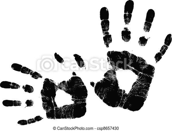 Handprint Vector Clip Art EPS Images. 1,578 Handprint clipart ...