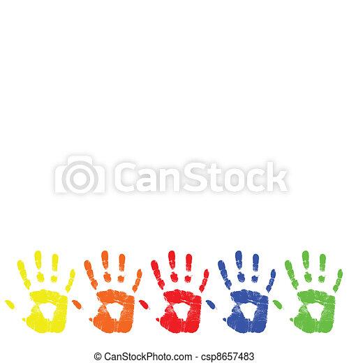 vector color hand - csp8657483