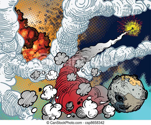 Space Explosions - csp8658342