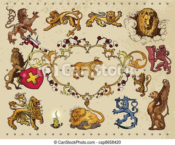 heraldic elements - csp8658420
