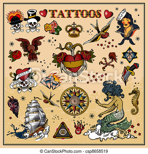Tattoos - csp8658519