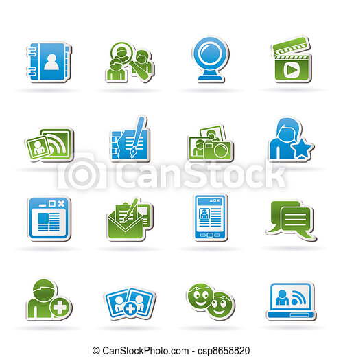 social networking and communication - csp8658820