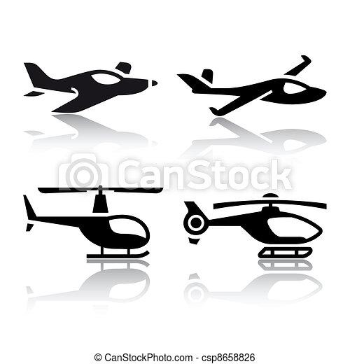 Set of transport icons - csp8658826