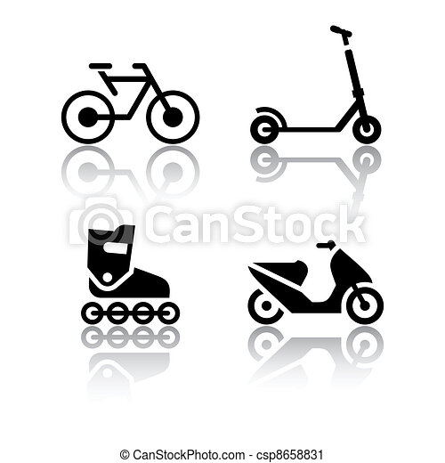 Set of transport icons - extreme - csp8658831