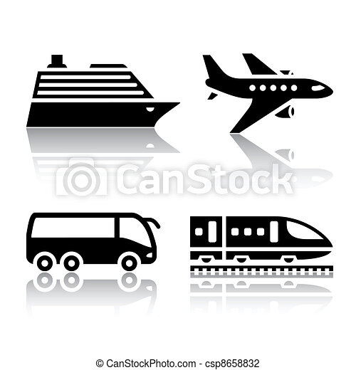 Set of transport icons - tourist - csp8658832