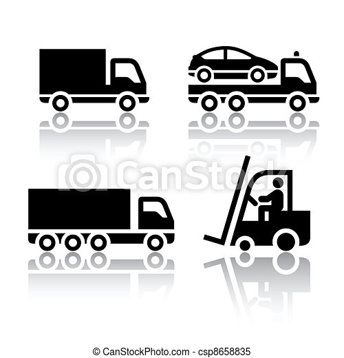 Set of transport icons - truck - csp8658835