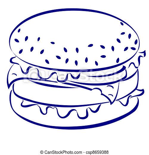 Cheeseburger - csp8659388