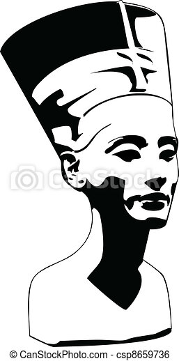 vector head of Nefertiti - csp8659736
