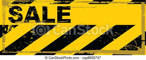 vector grunge danger banner - csp8659747