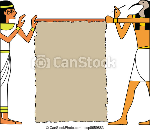 the vector set of egyptian god - csp8659883
