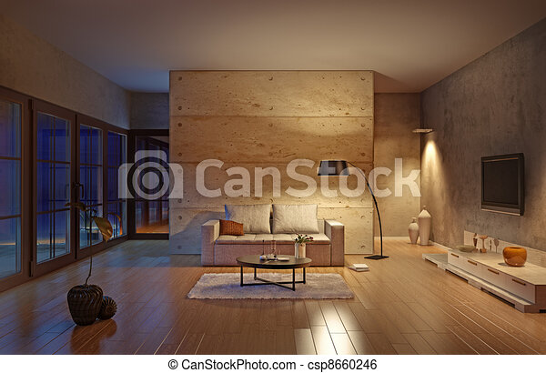living room - csp8660246