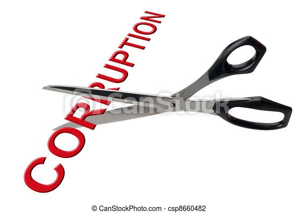 Cutting corruption, isolated - csp8660482